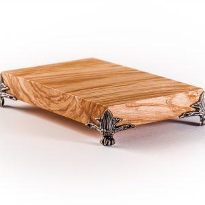 Olijfhouten tafeltje